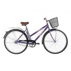 """Велосипед FOXX 28"""" FIESTA фиолетовый, сталь, размер 20"""" + передняя корозина"""
