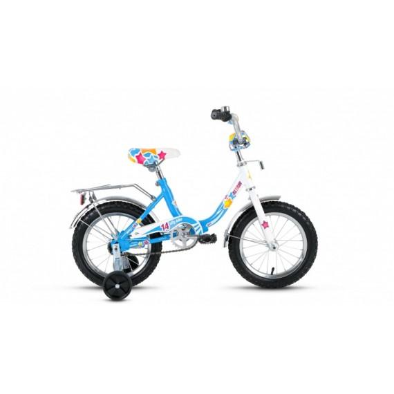 Велосипед ALTAIR CITY GIRL 14 белый/синий,