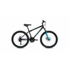 """Велосипед ALTAIR MTB HT 24  disc (24"""" 18ск) черный/бирюзовый"""
