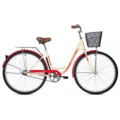 """Велосипед Foxx 28"""" Vintage  бежевый + передняя корзина"""