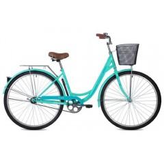 "Велосипед Foxx 28"" Vintage  зеленый + передняя корзина"
