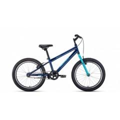 """Велосипед ALTAIR MTB HT 20 1.0 (20"""" 1 ск. рост 10.5"""") 2020-2021, темно-синий/бирюзовый, 1BKT1J101002"""