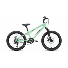 "Велосипед ALTAIR MTB HT 20 2.0 disc (20"" 6 ск. рост 10.5"") 2020-2021, мятный/черный, RBKT11N06004"