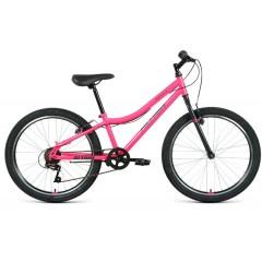 "Велосипед ALTAIR MTB HT 24 1.0 (24"" 6 ск. рост 12"") 2020-2021, голубой/розовый, RBKT11N46004"