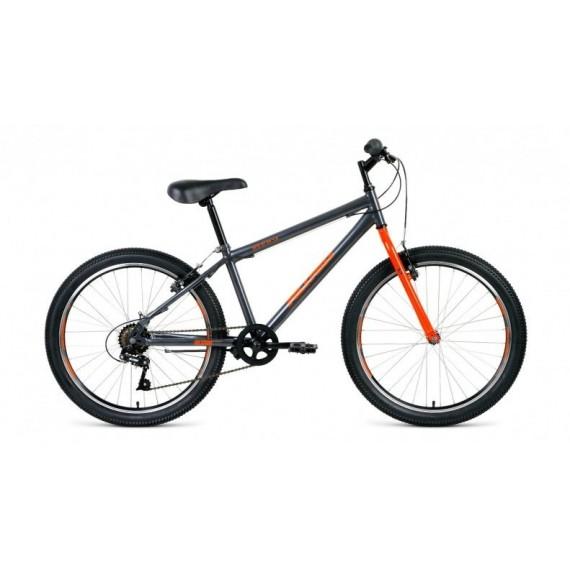 """Велосипед ALTAIR MTB HT 24 1.0 (24"""" 6 ск. рост 12"""") 2020-2021, розовый/серый, RBKT11N46005"""