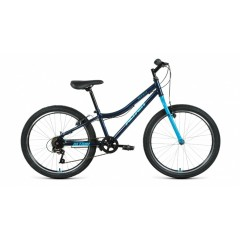 """Велосипед ALTAIR MTB HT 24 1.0 (24"""" 6 ск. рост 12"""") 2020-2021, темно-синий/мятный, RBKT11N46003"""