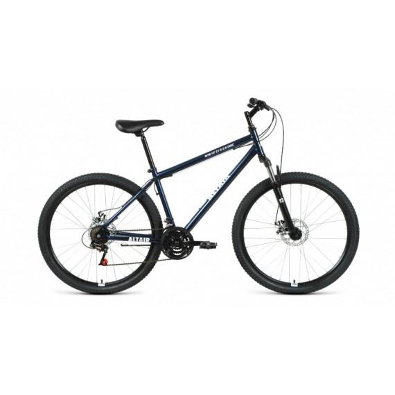 "Велосипед ALTAIR MTB HT 27,5 2.0 disc (27,5"" 21 ск. рост 19"") 2020-2021, темно-синий/белый, RBKT1MN7"