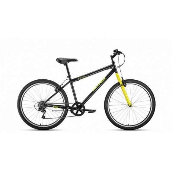"""Велосипед ALTAIR MTB HT 26 1.0 (26"""" 6ск рост 19'') черный / желтый /, RBKT0MN66008"""