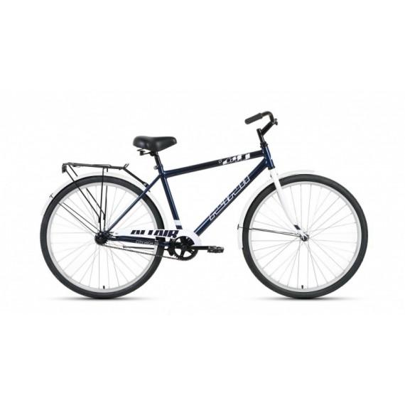 "Велосипед ALTAIR CITY 28 high (28"" 1 ск. рост 19"") 2020-2021, темно-синий/серый, RBKT1YN81003"
