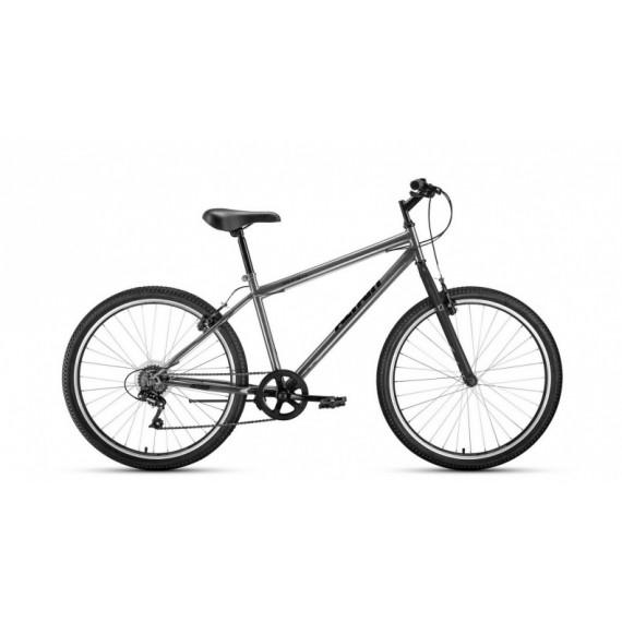 """Велосипед ALTAIR MTB HT 26 1.0 (26"""" 7 ск. рост 19"""") 2020-2021, темно-серый/черный"""