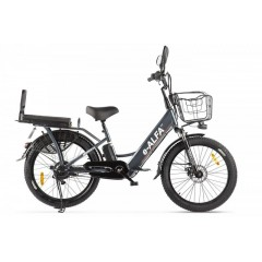 Велогибрид GREEN CITY e-ALFA Fat черный-2160