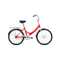 Велосипед FORWARD VALENCIA 24 1.0 скл. (24'' 1ск.) красный / серый /, RBKW0YN41006