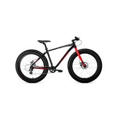 """Велосипед BIZON 26 (26"""" 8ск рост 18'') черный / красный /8712003000, RBKW0W66P003"""