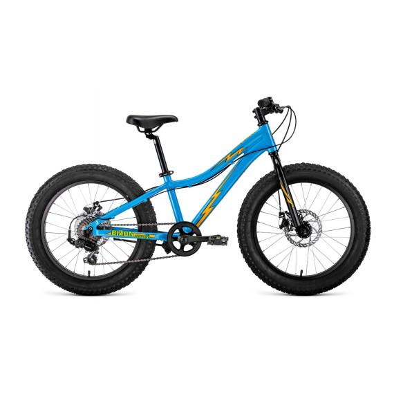 """Велосипед BIZON MICRO 20  (20"""" 7ск рост 11'') голубой/оранжевый"""
