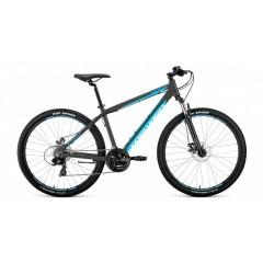 """Велосипед APACHE 27,5 2.0 disc алюм. (27,5"""" 21ск рост 15'') серый/голубой"""