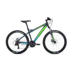 "Велосипед FORWARD FLASH 26 2.0 disc (26'' 21cк 19"") серый / светло-зеленый матовый /, RBKW0MN6Q023"