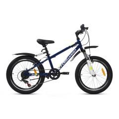 "велосипед FORWARD UNIT 20  2.0 (20"" 6 ск ) темно-синий/белый"