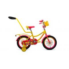 "Велосипед FORWARD FUNKY 14  (14"" 1 ск) желтый"