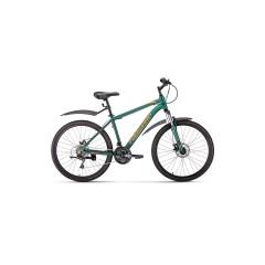 """Велосипед FORWARD HARDI 26 2.0 disc (26"""" 21ск рост 17'') зеленый матовый /, RBKW0M66Q011"""