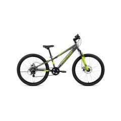 """Велосипед FORWARD RISE 24 2.0 disc алюм. (24"""" 7ск) серый / зеленый /, RBKW01647004"""