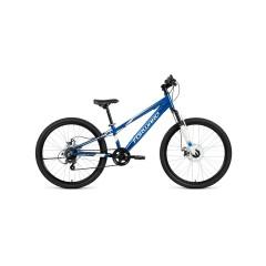 """Велосипед FORWARD RISE 24 2.0 disc алюм. (24"""" 7ск) синий / белый /, RBKW01647002"""
