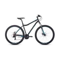"""Велосипед FORWARD SPORTING 29 2.0 disc (29"""" 21ск рост 17"""") черный / бирюзовый /, RBKW0MN9Q003"""