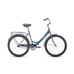 """Велосипед FORWARD SEVILLA 26 1.0 (26"""" 1 ск. рост 18.5"""") 2020-2021, серый/серебристый, RBKW1C261003"""