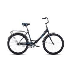 """Велосипед FORWARD SEVILLA 26 1.0 (26"""" 1 ск. рост 18.5"""") 2020-2021, черный матовый/белый, RBKW1C26100"""