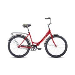 """Велосипед FORWARD SEVILLA 26 1.0 (26"""" 1 ск. рост 18.5"""") 2020-2021, красный/белый, RBKW1C261004"""