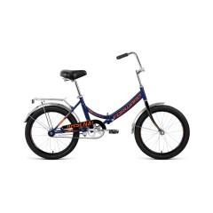 """Велосипед FORWARD ARSENAL 20 1.0 (20"""" 1 ск. рост 14"""" скл.) 2020-2021, темно-синий/серый, RBKW1YF0101"""