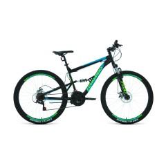 """Велосипед FORWARD RAPTOR 27,5 2.0 disc (27,5"""" 18 ск. рост 18"""") 2020-2021, черный/бирюзовый"""