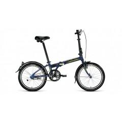 """Велосипед FORWARD ENIGMA 20 1.0 (20"""" 1 ск. рост 11"""" скл.) 2020-2021, синий/зеленый"""