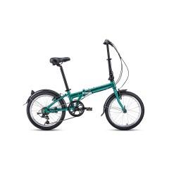 """Велосипед FORWARD ENIGMA 20 2.0 (20"""" 7 ск. рост 11"""" скл.) 2020-2021, зеленый/коричневый"""