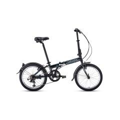 """Велосипед FORWARD ENIGMA 20 2.0 (20"""" 7 ск. рост 11"""" скл.) 2020-2021, черный/белый"""