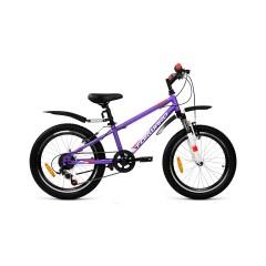 """Велосипед FORWARD UNIT 20 2.2 (20"""" 6 ск. рост 10.5"""") 2020-2021, фиолетовый/белый"""