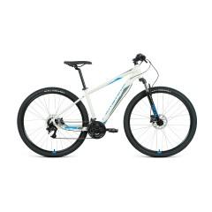 "Велосипед FORWARD APACHE 29 3.2 disc (29"" 21 ск. рост 19"") 2020-2021, серый/синий"