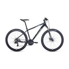 """Велосипед FORWARD APACHE 27,5 2.0 disc (27,5"""" 21 ск. рост 19"""") 2020-2021, черный/серый"""