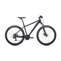 """Велосипед FORWARD APACHE 27,5 2.0 disc (27,5"""" 21 ск. рост 21"""") 2020-2021, черный матовый/черный"""