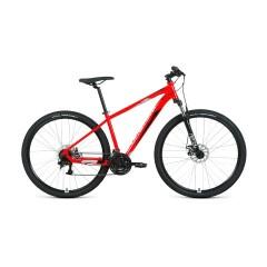 """Велосипед FORWARD APACHE 29 2.2 S disc (29"""" 21 ск. рост 19"""") 2020-2021, красный/серебристый"""