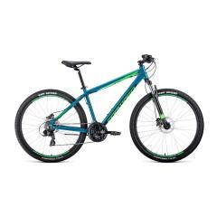 """Велосипед APACHE 27,5 3.0 disc алюм. (27,5"""" 21ск рост 15'') бирюзовый / светло-зеленый /, RBKW0M67Q0"""