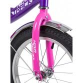 """Велосипед NOVATRACK 14"""" VECTOR лиловый, тормоз нож., крылья и багажник хром., полная защита цепи"""