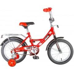 """Велосипед NOVATRACK 14"""", URBAN, красный, полная защита цепи, тормоз нож., крылья и багажник хром"""