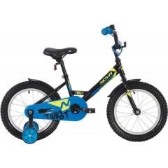 """Велосипед NOVATRACK 14"""" TWIST, черный, тормоз нож, крылья цвет, багажник хром. #117034"""
