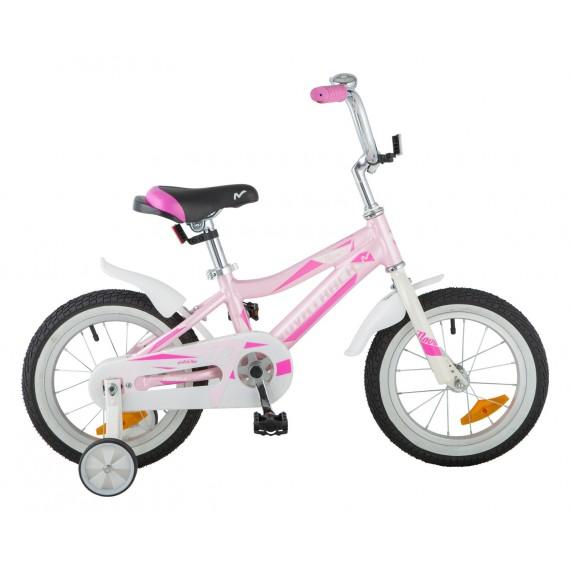 "Велосипед NOVATRACK 14"", NOVARA, алюм., белый, тормоз нож, короткие крылья, нет багажника"