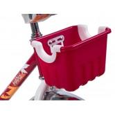 """Велосипед NOVATRACK 16"""" MAPLE, красный, полная защита цепи, тормоз нож.,крылья и багажник хром"""