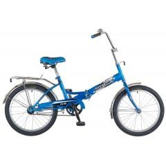"Велосипед NOVATRACK 20"" складной, FS30, синий, 6скор.Shimano TY-21,тормоз 2руч,сиден #137228"