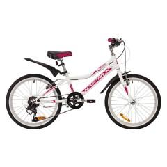 """Велосипед NOVATRACK 20"""", ALICE, белый, сталь, 6-скор, TY21/TS38/SG-6SI, V-brake"""