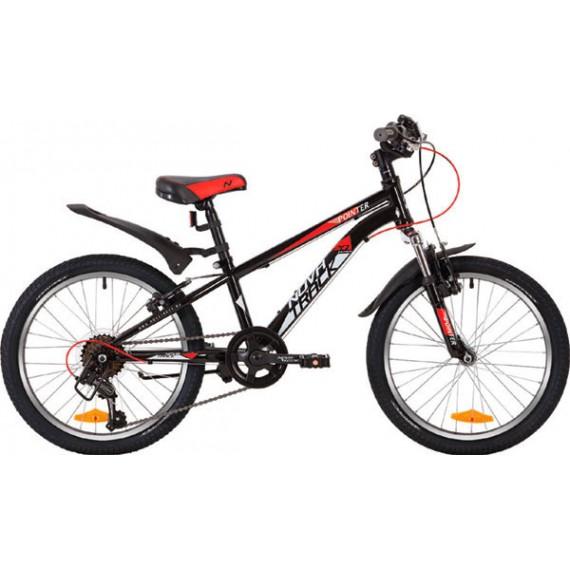 "Велосипед NOVATRACK 20"" POINTER, чёрный, сталь, 6-скор, Microshift TS38/Shimano, V-brake"
