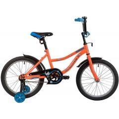 "Велосипед NOVATRACK 18"" NEPTUNE оранжевый, тормоз нож, крылья корот, защита А-тип"