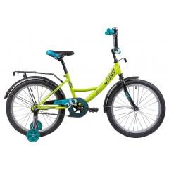 """Велосипед NOVATRACK 20"""", VECTOR, салатовый, защита А-тип, тормоз нож., крылья и багажник чёрн."""